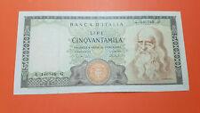 Banconota 50000 Lire Leonardo  1967 in very fine condition