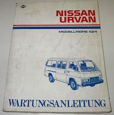 Werkstatthandbuch Nissan Urvan E24 / E 24  Stand März 1987!