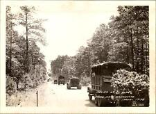 1940 US 3rd Army War Games Maneuvers Truck Convoy Prime Movers Artillery Photo