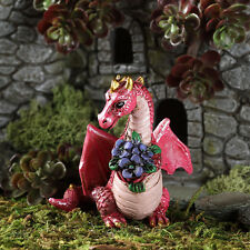 FAIRY GARDEN Miniatures Dragon with Flowers Figurine