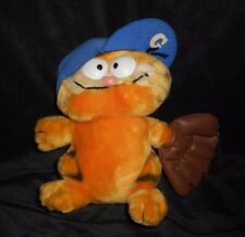 "9"" VINTAGE R DAKIN BABY GARFIELD W/ BASEBALL GLOVE STUFFED ANIMAL PLUSH TOY"