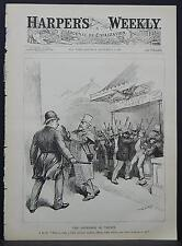 Harper's Weekly Cover-Page A4#62 Sep. 1888 The Defender of Trusts