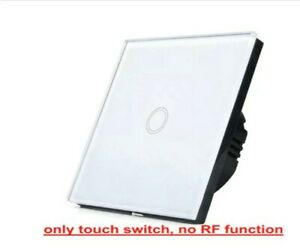 LED light Touch Switch 110V-220V Wall lamp Switch Tempered Glass Panel