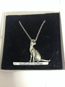 """Siamese Cat PP-C02 Emblem on Silver Platinum Plated Necklace 18"""""""