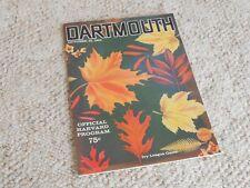 RARE Vintage 1960 Dartmouth vs. Harvard Football Program-NIce!!!