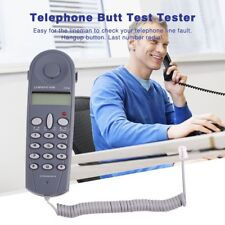 Telephone Phone Butt Test Tester Lineman Tool Cable Set Professional Device AS