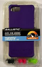 Purple/Lime/Pink/Gray Ballistic Smooth Series Shock Protect Cover Case iPhone 5