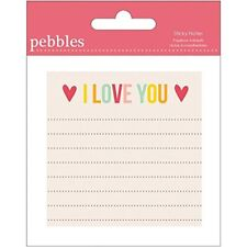 Pebbles Sticky Notes paper Love You - 4-Pack