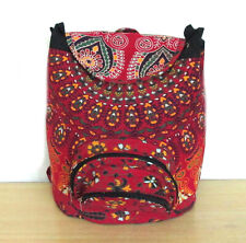 Indian Red Peacock  Mandala Fashion Backpack Bag Cotton Fabric Hippie Sport Bags