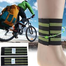 1 Pair Bicycle Bike Elastic Reflective Strap Trousers Leg Ankle Wrist Pants Band