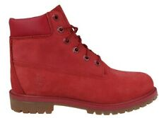 "Juniors Childrens Boys Timberland Red 6"" 6 Inch Leather Waterproof Boots Size UK"