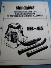 OEM Shindaiwa Backpack Blower EB-45 Illustrated Parts List