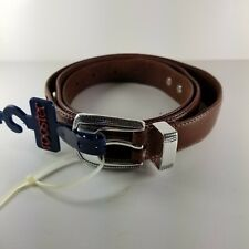 Mens Leather Belt NEW Size 44 Golf Embellishments Top Grain