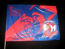 NRL Sydney Roosters Flag Game Day on Stick 850 X 600mm-