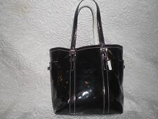 Coach  Black Glazed  Leather Gallery Lunch Tote Bag M3Q-9786 MSRP $398