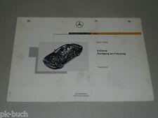 Schulungsunterlage Training Einführung Mercedes Benz S-Klasse W220, Juni 1998