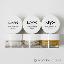"3 NYX Eyeshadow Base Primer ""White , white Pearl , Skin Tone"" Joy's cosmetics"