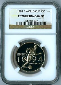 1994 P World Cup Soccer Half Dollar Coin NGC PF 70 ULTRA CAMEO PF70 Perfect