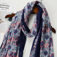 Women Maxi Printed Long Neck Shawl Scarf Wrap Tassel Muslim Hijab Scarves S