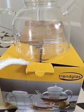 BRAND NEW IN BOX Trendglas Tea Pot Heat Resistant Glass 1.75 Litre