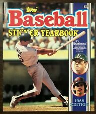 1988 Topps Baseball Sticker Yearbook Mark McGwire Benny Santiago No Stickers