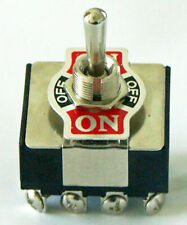 K403 4pdt Onoffon Center Off Toggle Switch 20 Amp 125 Vac