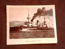 Feste di Tolone nel 1901 Convegno della marina Gaulois Corazzata a torri