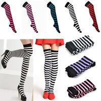 Girl Women High Stockings Stripe Stripy Striped Over The Knee Thigh Long Socks