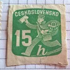 Czechoslovakia stamps - Postman 1945? 15 Czechoslovak haléř
