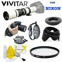 VIVITAR WHITE PRO LINE TELEPHOTO ZOOM LENS FOR NIKON D3100 D3200 D3300 D5000