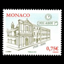 Monaco 2010 - 100th Anniv of the Lycee Albert 1st Architecture - Sc 2608 MNH