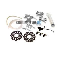 King Motor V2 Hydraulic Silver Aluminum Front Hydro Brake Kit HPI Baja 5B SS 5T
