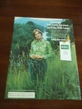 1973 VINTAGE AD KOOL CIGARETTES LADY BE COOL WOMAN IN FIELD SMOKING