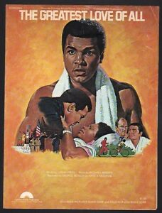 Muhammad Ali The Greatest  The Greatest Love of All 1977  Sheet Music