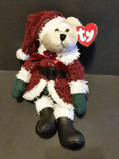 "2000 Ty Plush 8"" Santabear the Christmas Bear"