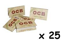 Lot de 25 paquets de feuilles OCB doubles, chanvre bio, organiques en vrac