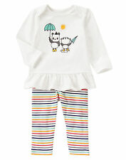 NWT Gymboree Tiny Panda Umbrella Striped Outfit 2PC 3-6 Months Baby Girl