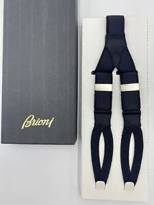 Black Crocodile Embossed Silk Suspenders
