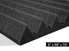"Soundproofing Studio Foam Acoustic Absorption Wedge Panel 2""x48""x72"" (24sqft)"