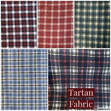 """Tartan French Country Checks Drapery Upholstery Cotton Fabric in 5 colors - 60"""""""