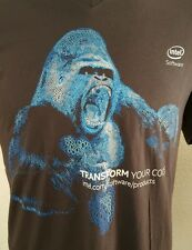 Ape Gorilla Short Sleeve Tee T-shirt Sz L Intel