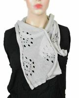 Women's Gray Knitted Scarf
