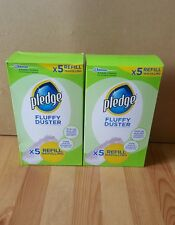 Pledge Fluffy Dusters Refill Pads Double Pack - 5 Pack x2 Free UK Postage