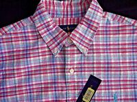 Polo Ralph Lauren Men's Checked Oxford Shirt, PinkRoyal, Size M, MSRP $89.5