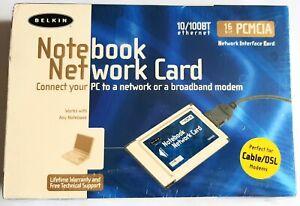 Belkin F5D5020 16 Bit PCMCIA Notebook Network Card BRAND NEW SEALED