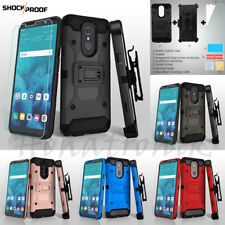 LG Stylo 4 /Plus Hybrid Shockproof Armor Rubber Phone Case Cover Holster Screen