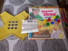 "VINTAGE 1972 MARK ""THREE"" GAME IDEAL TOY CORP - 100% Complete!"