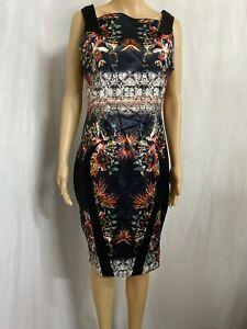 CUE SIZE 14 BLACK ORCHID SHEATH DRESS