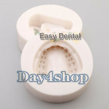 2pcs Dental Plaster Model Mold Mould of Edentulous Jaw Complete Cavity Block