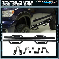 For 07-18 Toyota Tundra Double Cab Side Step Bar Running Boards Nerf Bar Black